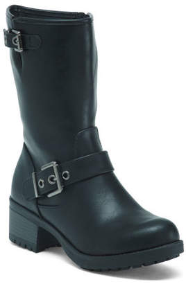 Mid-shaft Double Buckle Boots