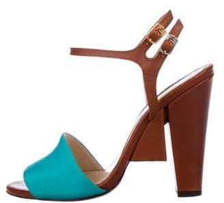 Fendi Contrast Platform Heels