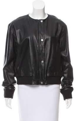 Tess Giberson Leather Bomber Jacket