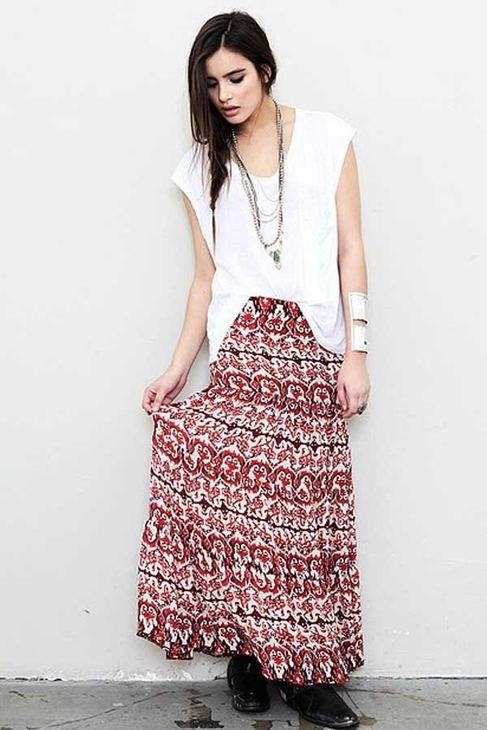 Blu Moon Almost Famous Skirt in Caribbean Tribal