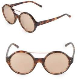 Linda Farrow Luxe 52MM Round Sunglasses