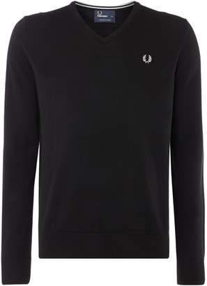 Fred Perry Men's Classic V Neck Pull Over Sweater