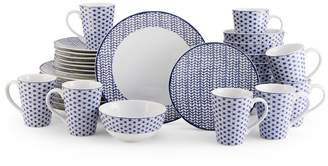Mikasa Avery Medley Blue 32 Piece Dinnerware Set