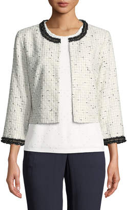 Karl Lagerfeld Paris 3/4 Sleeve Chain Trim Topper Jacket