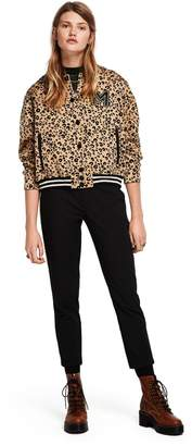 Scotch & Soda Leopard Print Bomber Jacket