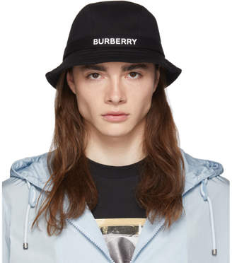 Burberry Black Jersey Bucket Hat