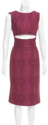 Sally LaPointe Cutout Midi Dress w/ Tags