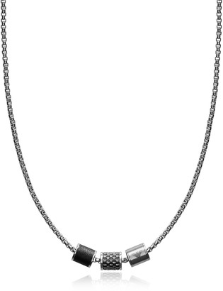 Emporio Armani Heritage Cylinder Pendant Men's Necklace