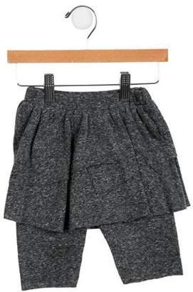 Nununu Girls' Skirt-Accented Knit Pants