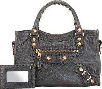 Balenciaga Women's Giant 12 Mini City-GREY $1,395 thestylecure.com