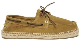 Manebi Hamptons Suede Deck Shoes - Mens - Green
