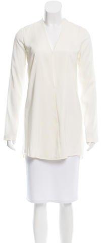 Alexander WangT by Alexander Wang Long Sleeve Silk Tunic