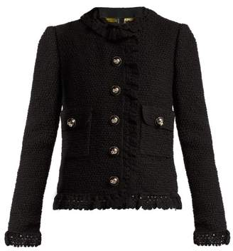 Dolce & Gabbana Virgin Wool Blend Boucle Jacket - Womens - Black