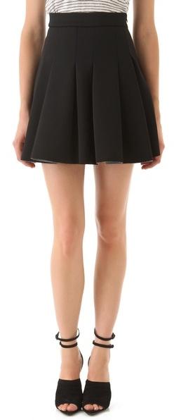 Alexander Wang Neoprene Box Pleat Skirt