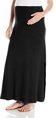 Everly Grey Women's Sienna Side Slit Maxi Maternity Skirt