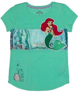 036bf5a7 Disney Princess Ariel Applique Graphic T-Shirt (Little Girls & Big Girls)