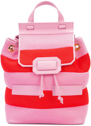 Moschino striped backpack