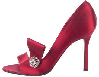 Brian Atwood Satin Embellished Pumps $130 thestylecure.com