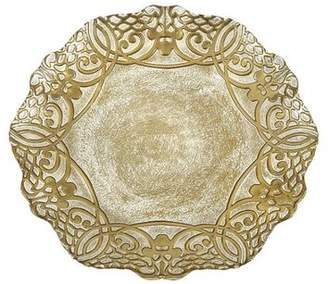 """Red Pomegranate GENEVE 11"""" GOLD DINNER PLATE"""