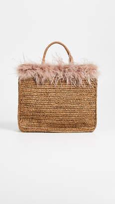 Loeffler Randall Raffia Travel Tote Bag