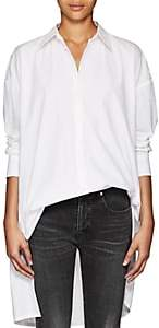 Yohji Yamamoto Regulation Women's Oversized Cotton Poplin Blouse - White