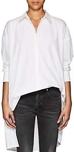 Yohji Yamamoto Regulation Women's Oversized Cotton Poplin Blouse-White