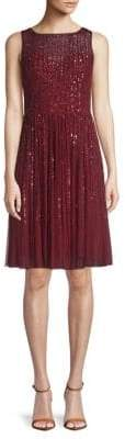 Adrianna Papell Sequined A-Line Dress
