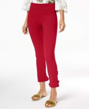 INC International Concepts Inc Ruffled-Hem Ankle Skinny Pants, Created for Macy's
