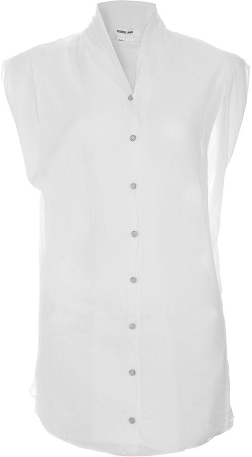 Helmut Lang Cut Off Shirt