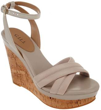 G.I.L.I. Got It Love It G.I.L.I. Leather Ankle Strap Wedges - Danna