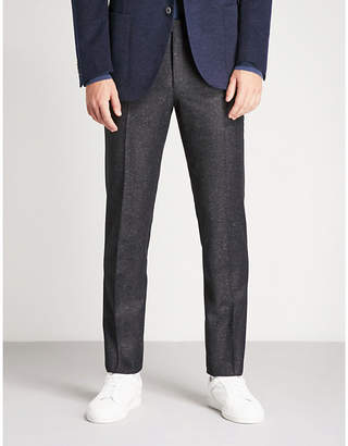 Corneliani Academy-fit wool and silk-blend trousers