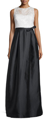 Rickie Freeman for Teri Jon Sleeveless Lace-Bodice Colorblock Gown $760 thestylecure.com