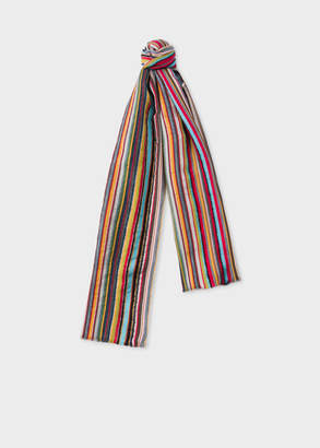 Paul Smith Men's Signature Stripe Textured Scarf