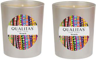 Qualitas Candles Hearth Candle (6.5 OZ) (Set of 2)