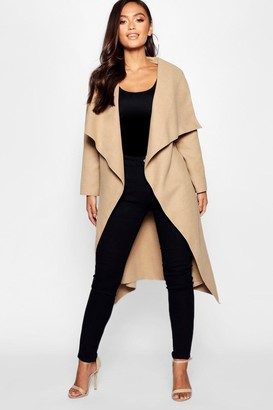 boohoo Petite Waterfall Shawl Coat