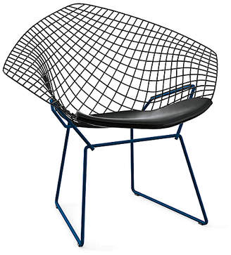 Design Within Reach Knoll Bertoia Two-Tone Diamond Lounge Chair with Seat Pad at DWR