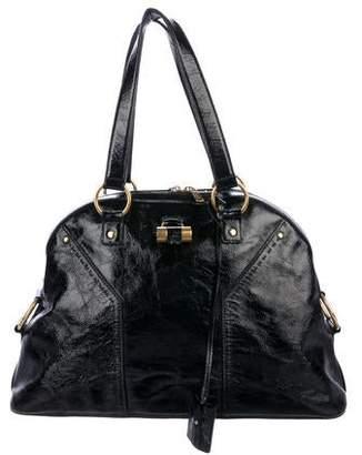 Saint Laurent Patent Leather Mini Muse Bag