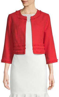 Karl Lagerfeld Cropped Open-Front Jacket