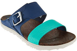 Merrell Leather Slide Sandals w/ Buckle- Around Town