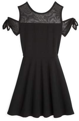 Sally Miller Girls' Cold-Shoulder Stretch Knit Dress - Big Kid