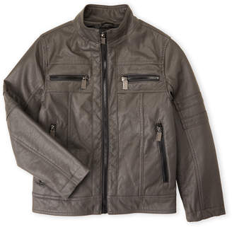 Urban Republic Boys 8-20) Charcoal Faux Leather Moto Jacket