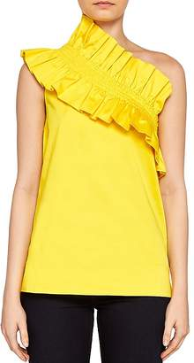 Ted Baker Mitzy Ruffled One-Shoulder Top