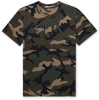 Valentino Camouflage-Print Cotton-Jersey T-Shirt
