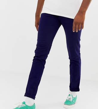 Asos DESIGN Tall skinny chinos in deep blue