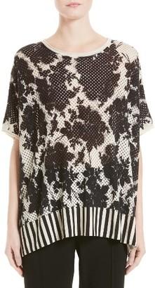 Women's Victor Alfaro Silk & Cashmere Floral Mesh Top $1,595 thestylecure.com