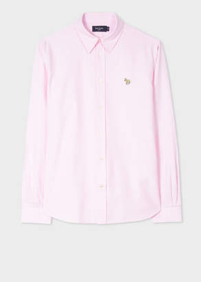 Men's Tailored-Fit Pink Zebra Logo Oxford Shirt