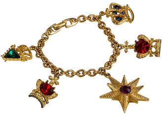 One Kings Lane Vintage Napier Gold-Plated Jewel Charm Bracelet