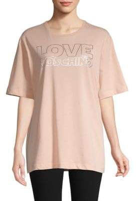 Love Moschino Graphic Cotton Tee