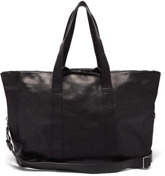 Ann Demeulemeester Grained Leather Holdall Bag - Mens - Black