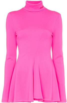 Calvin Klein high-necked peplum jersey top